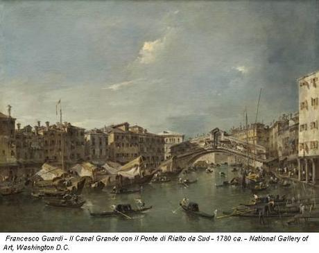 Francesco Guardi - Il Canal Grande con il Ponte di Rialto da Sud - 1780 ca. - National Gallery of Art, Washington D.C.