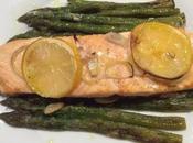 Salmone forno asparagi