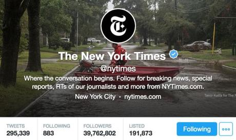 """The reality is that my Twitter account is a Times account"". La nuova social media policy interna del New York Times"