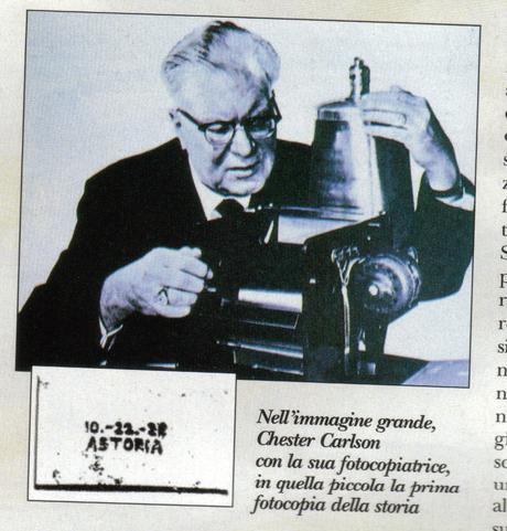 Carlson inventa la fotocopiatrice