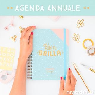 Agenda Mr Wonderful 2018 - grande settimanale - VAI E BRILLA!