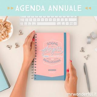 Agenda Mr Wonderful 2018 - grande giornaliera - SOGNI, PROGETTI E MILLE AVVENTURE DA REALIZZARE