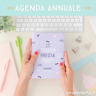 Agenda Mr Wonderful 2018 - piccola settimanale - IL MEGLIO INIZIA OGGI