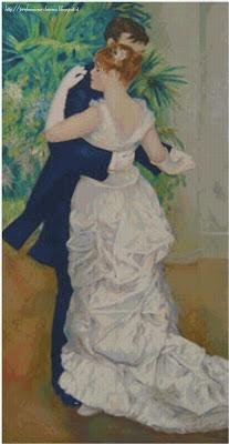 Schena punto croce: Dance in the city (Renoir)