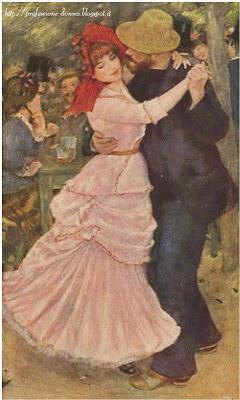 Schema punto croce: Dance a Bougival (Renoir)