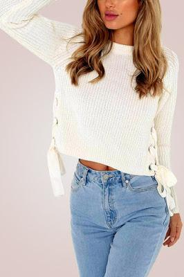 Dress in layers SWEATER WITH TOP MY STRATEGY WITH YOINS