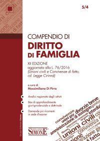 DI PIRRO MASSIMILIANO, Compendio di Diritto di Famiglia, XII edizione,Edizioni Simone, 2016