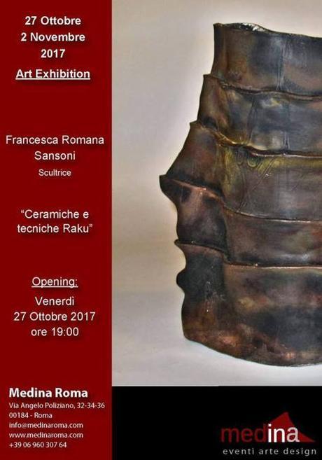 """27 ottobre – 2 novembre 2017 """"Ceramiche e tecniche Raku"""" presso lo Studio Medina"""