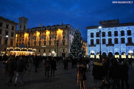 Firenze: le luminarie natalizie e il Firenze Light Festival