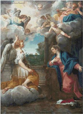 Schema punto croce: Annunciazione (Carracci)