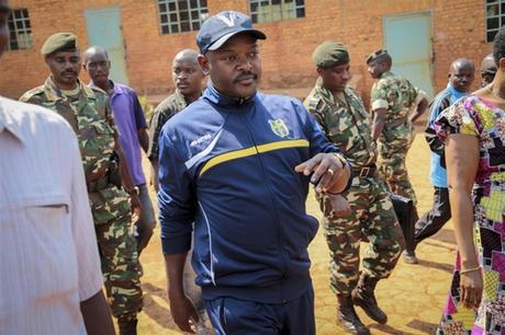 Il presidente Pierre Nkurunziza è in carica ininterrottamente dal 2005 (Ansa)