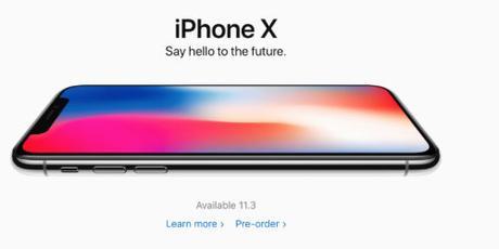 Apple iPhone X  ora disponibile per il Pre-Ordine