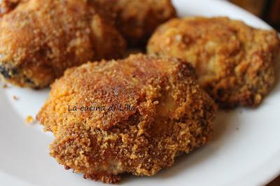 Secondi: Pollo panato speziato al forno