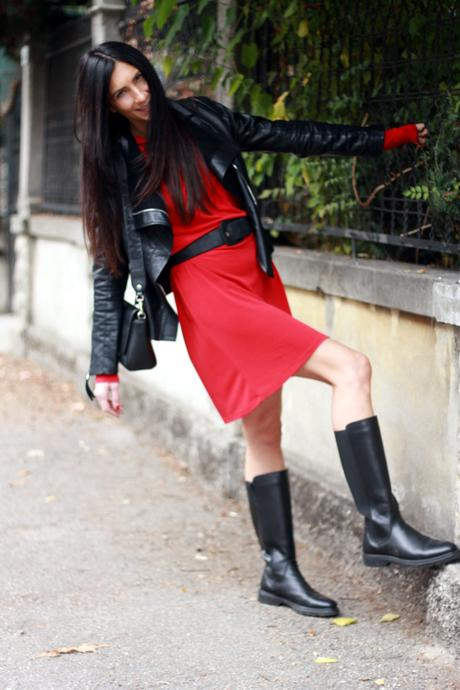 Winter outfit in red