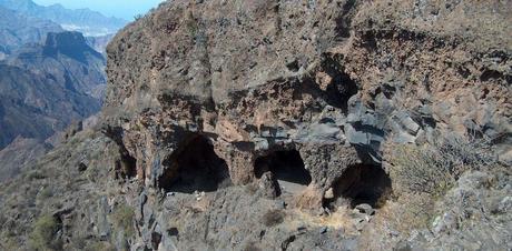 I Guanci vivevano in grotte come questa sull'isola di Gran Canaria
