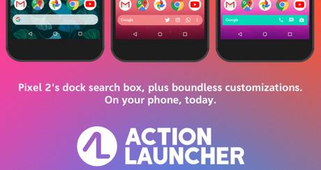 """Action Launcher si arricchisce del widget """"At a Glance"""" dei Pixel 2"""