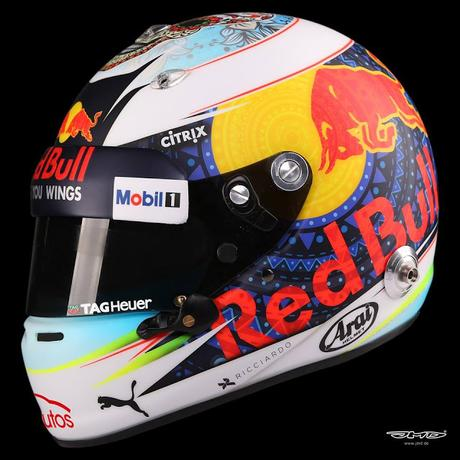 Arai GP-6 D.Ricciardo Mexico 2017 by Jens Munser Designs