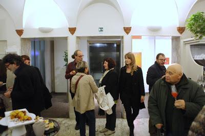 Il vernissage della mostra di MARTINO NERI