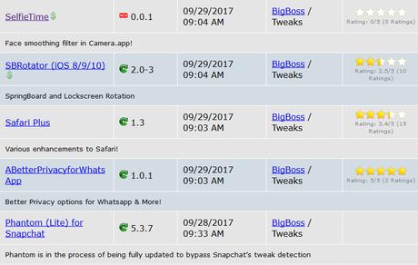 Jailbreak iOS 9.3.x/iOS 10.x – Tutti i Tweak testati e funzionanti [Aggiornato 28.10.2017]