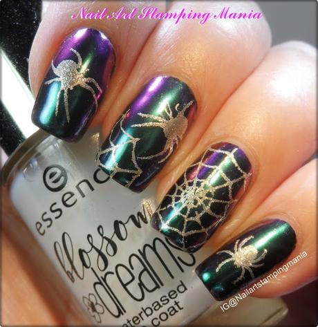 How to Stamp with Mirror Pigment and UberChic Beauty Halloween 01 plate  - Tutorial