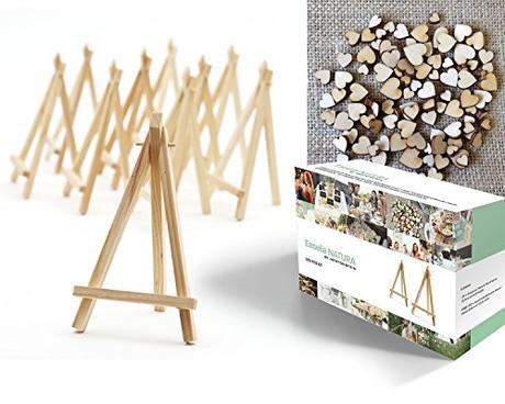 20 Mini cavalletti di legno naturale