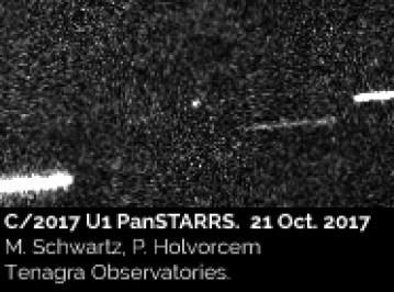 """Il Misterioso oggetto """"A/2017 u21"""" entrato nel nostro sistema solare e' un UFO ?"""