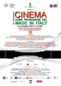 """XII Festa del Cinema di Roma: """"Gli artigiani del cinema come promozione del Made in Italy"""""""