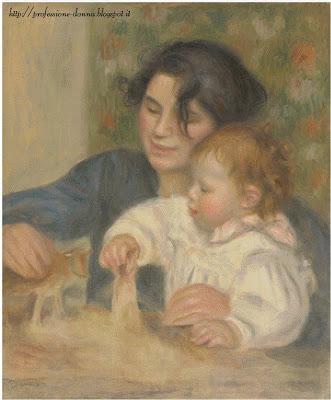 Schema punto croce: Gabrielle e Jean (Renoir)