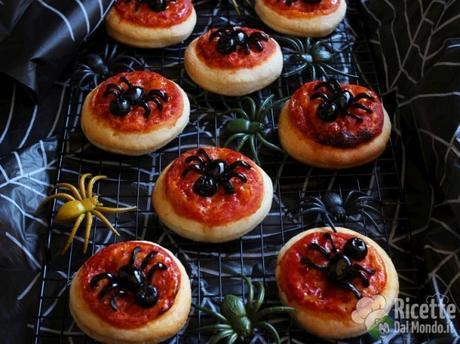 Pizzette ragno di Halloween