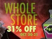 Halloween: sconto tutto store ottobre!