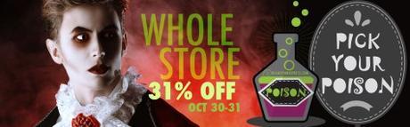 Halloween: sconto 31% su tutto lo store il 30 e 31 ottobre!