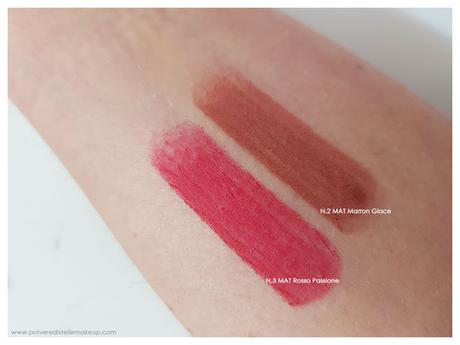 Rossetto Art Design Collistar Mat Sensuale swatches