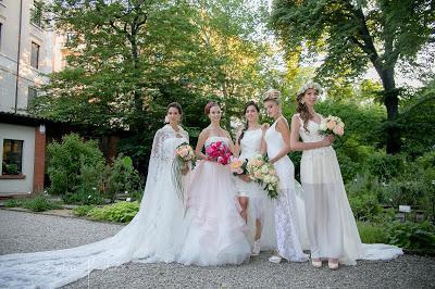 stilista abiti da sposa como