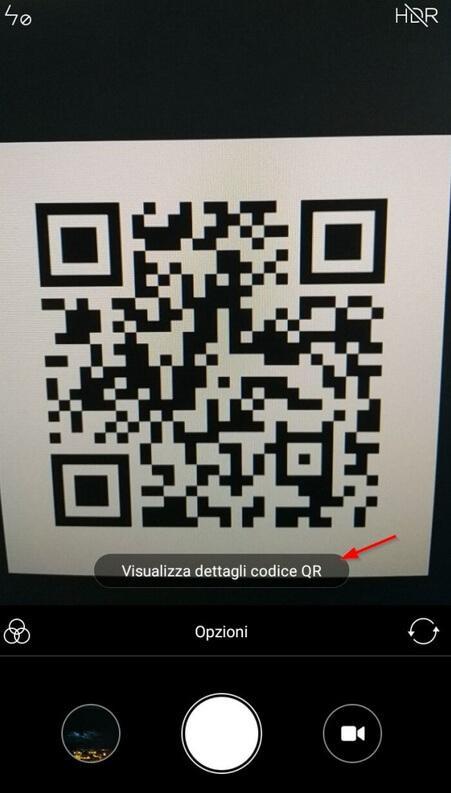 Effettuare scansione del codice QR