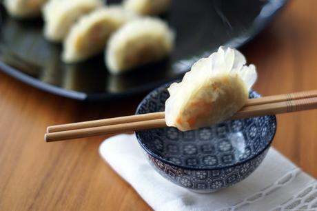 Har Gau, i ravioli cinesi al vapore trasparenti con gamberi e verdure