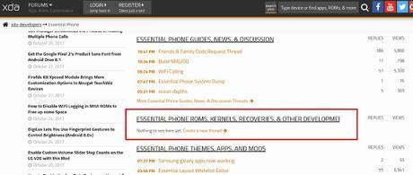Essential Phone PH-1: rilasciata la build NMJ20D con le patch di sicurezza di ottobre e altre novità