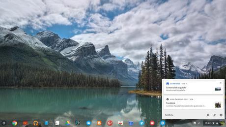 Google Chrome OS si aggiorna alla versione 62: introdotto un nuovo pannello delle notifiche