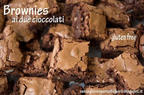 Brownies al doppio cioccolato senza glutine (di Martha Stewart)