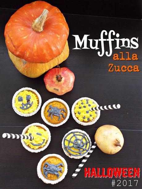 Muffins alla zucca per Halloween