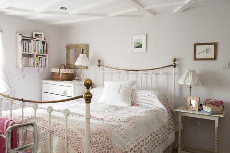 Personal touches such as family photos, favourite books and paintings add interest to the carefully decorated and designed bedrooms. The whole ceiling has been painted white, where once the beams were painted black – giving a sense of light and space