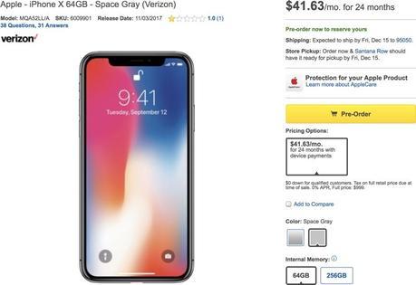Best Buy ha sospeso le vendite a prezzo pieno di iPhone X, iPhone 8 e 8 Plus in seguito alle critiche per la maggiorazione di 100 dollari - Notizia