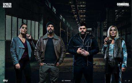 I protagonisti di Gomorra – La serie nella campagna Sky anti-spoiler