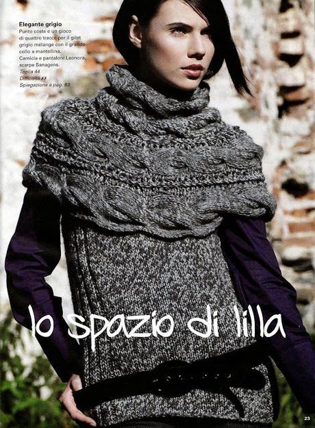 Moda donna ai ferri: maglione invernale con sprone a trecce