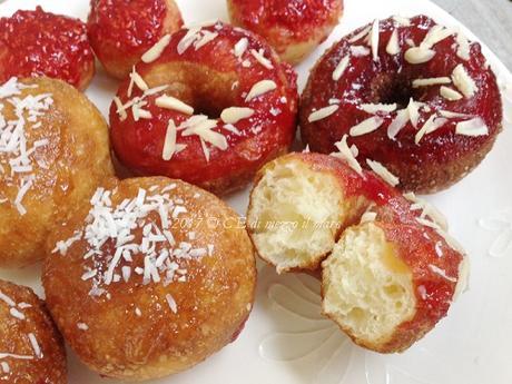 Sofficissimi Donuts con l'impasto base nr 16 della Cuochina