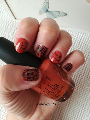 Stamping e nail art di Halloween by Nurbesten