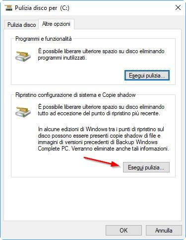 Come liberare spazio su disco in Windows