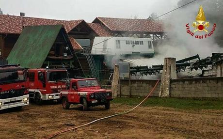 Cotronei, incendio all'impianto di risalita di Villaggio Palumbo