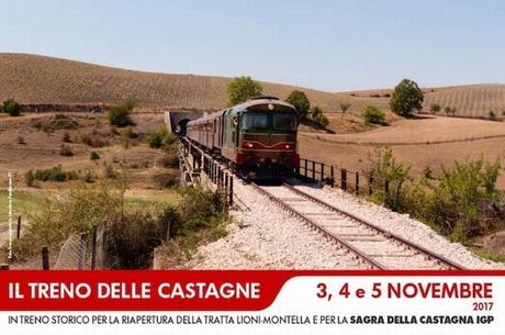 Il Treno storico delle Castagne e la Sagra a Montella (AV)
