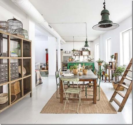 casa-loft-stile-boho-chic- industriale (4)