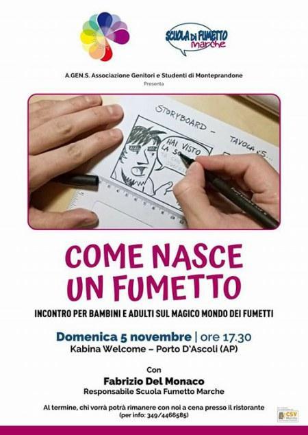Come nasce un fumetto – Incontro a San Benedetto del Tronto
